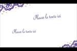 Mariage en dentelle violette Carte d'affaire - gabarit prédéfini. <br/>Utilisez notre logiciel Avery Design & Print Online pour personnaliser facilement la conception.