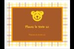 Ours jaune Étiquettes badges autocollants - gabarit prédéfini. <br/>Utilisez notre logiciel Avery Design & Print Online pour personnaliser facilement la conception.