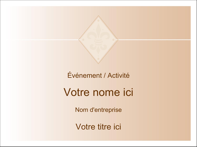 """3"""" x 4"""" Étiquettes badges autocollants - Diamant beige"""