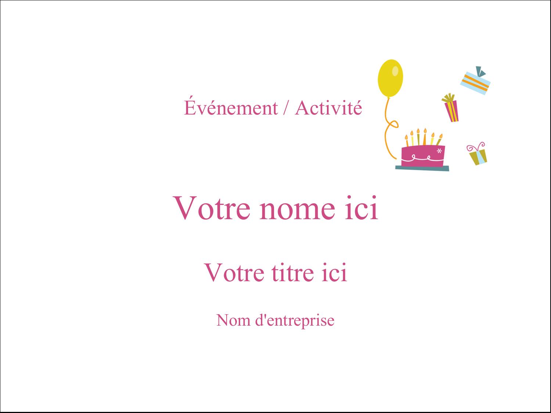 """3"""" x 4"""" Badges - Fête d'anniversaire"""