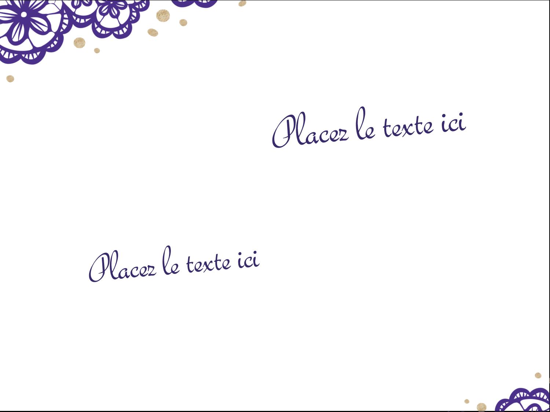 """3"""" x 4"""" Badges - Mariage en dentelle violette"""