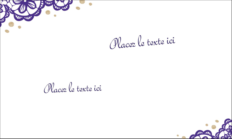 """2"""" x 3½"""" Cartes d'affaires - Mariage en dentelle violette"""