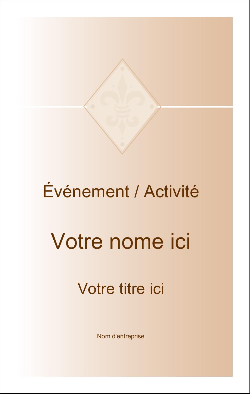 2¼ x 3½ Étiquettes badges autocollants - Diamant beige