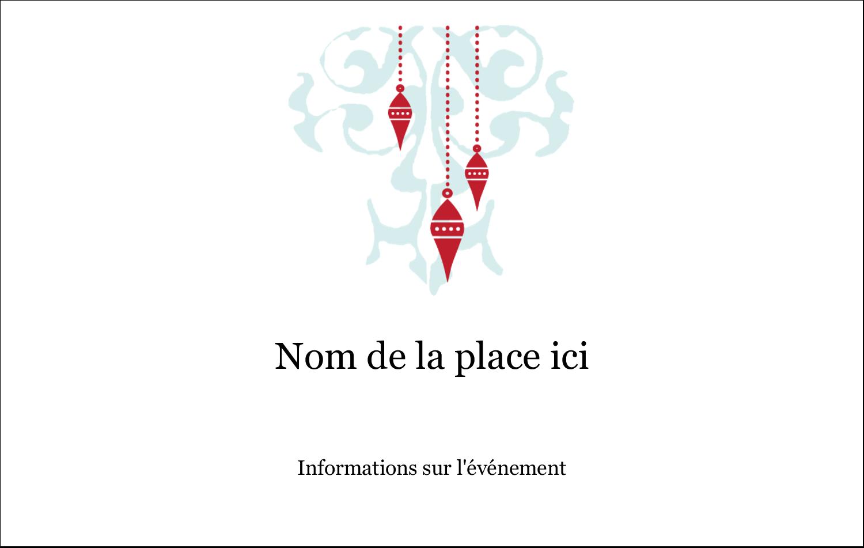 """3"""" x 4"""" Étiquettes badges autocollants - Noël élégant"""