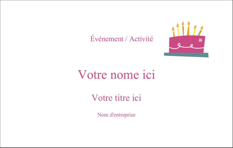 """3"""" x 4"""" Étiquettes badges autocollants - Fête d'anniversaire"""