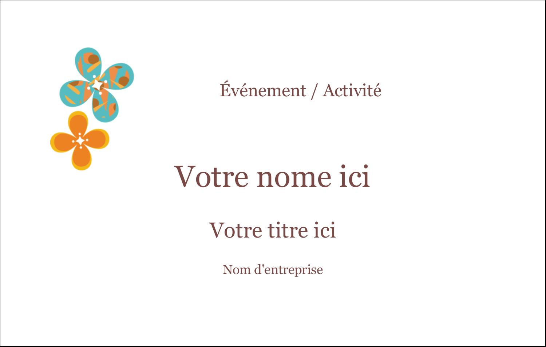 """3"""" x 4"""" Étiquettes badges autocollants - Motif fleuri"""