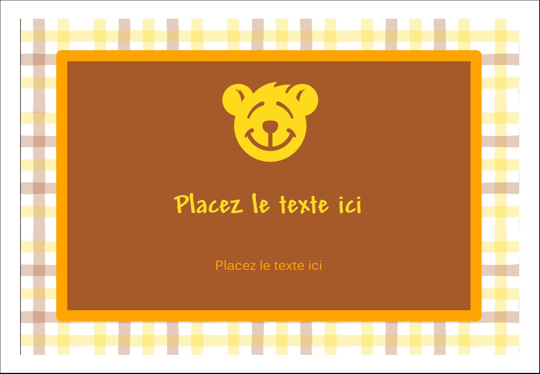 "3⅜"" x 2⅓"" Badges - Ours jaune"