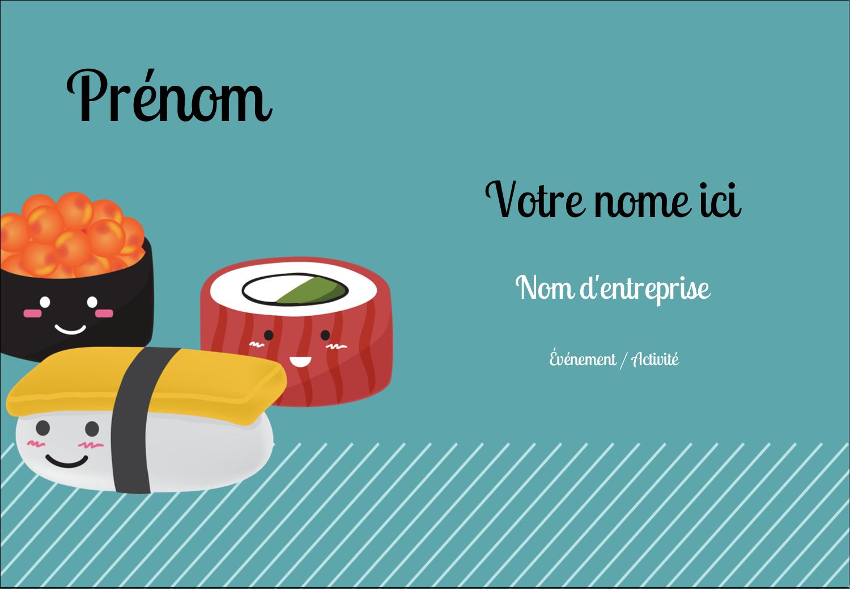 """1¼"""" Étiquettes à codage couleur - Émoticônes de sushis"""