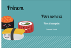 Émoticônes de sushis Étiquettes à codage couleur - gabarit prédéfini. <br/>Utilisez notre logiciel Avery Design & Print Online pour personnaliser facilement la conception.