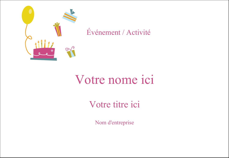 """1¼"""" Étiquettes à codage couleur - Fête d'anniversaire"""