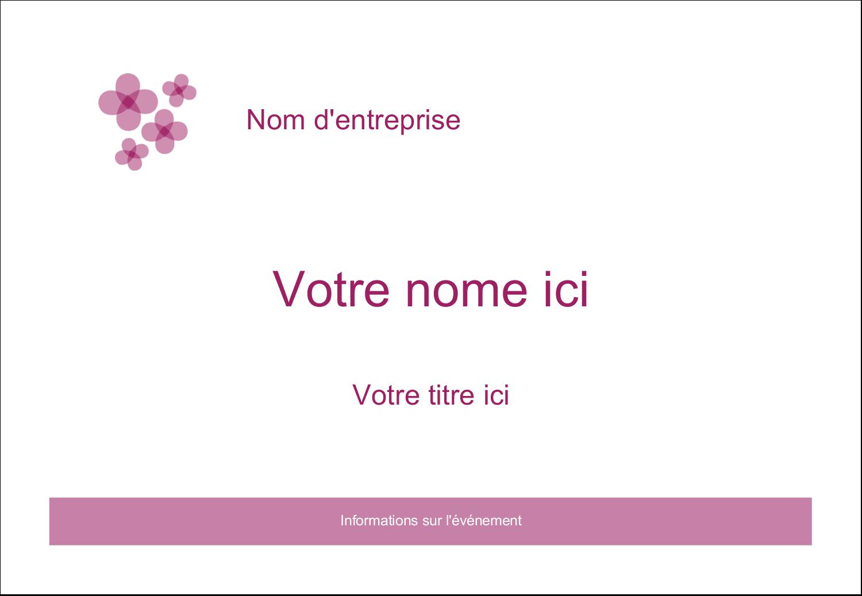 """1¼"""" Étiquettes à codage couleur - Fleurs violettes"""