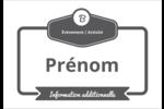 Logo simple Étiquettes à codage couleur - gabarit prédéfini. <br/>Utilisez notre logiciel Avery Design & Print Online pour personnaliser facilement la conception.