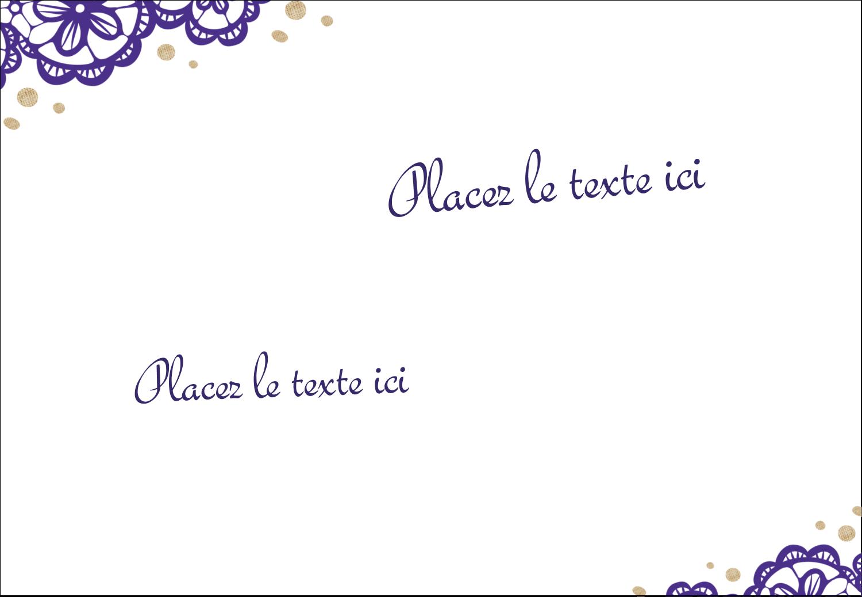 """1¼"""" Étiquettes à codage couleur - Mariage en dentelle violette"""