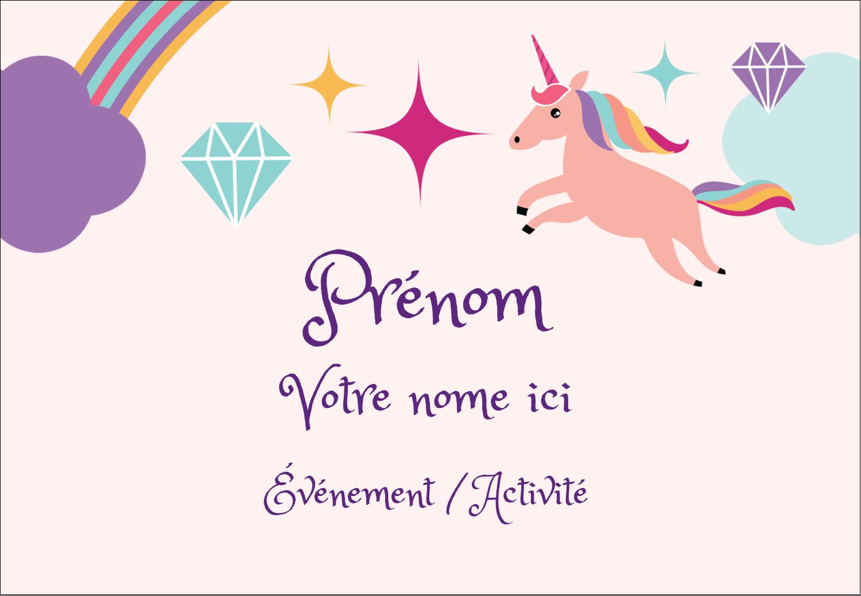 """1¼"""" Étiquettes à codage couleur - Licorne en fête"""