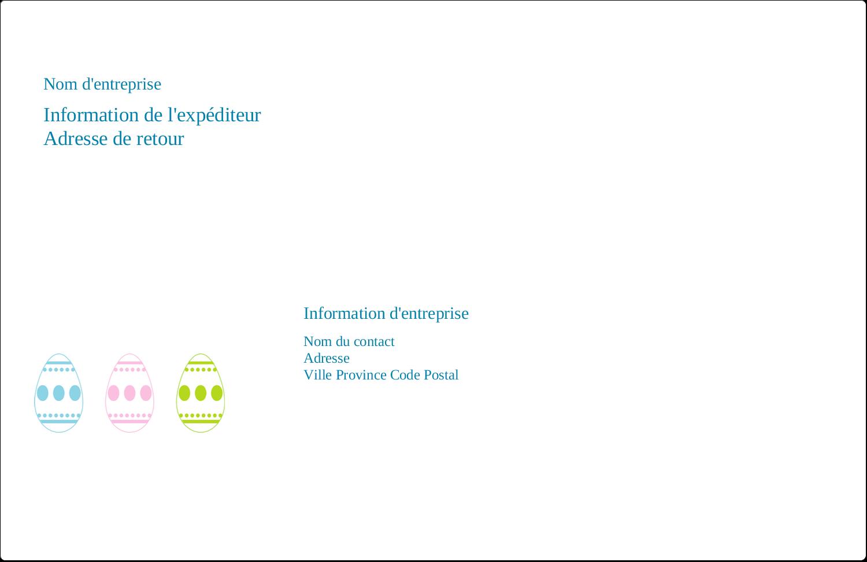 """8½"""" x 5½"""" Étiquettes d'expédition - Trio d'œufs de Pâques"""