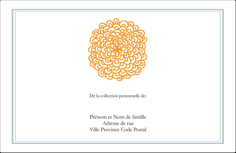 """1½"""" x 4"""" Étiquettes d'adresse - Ex-libris générique"""
