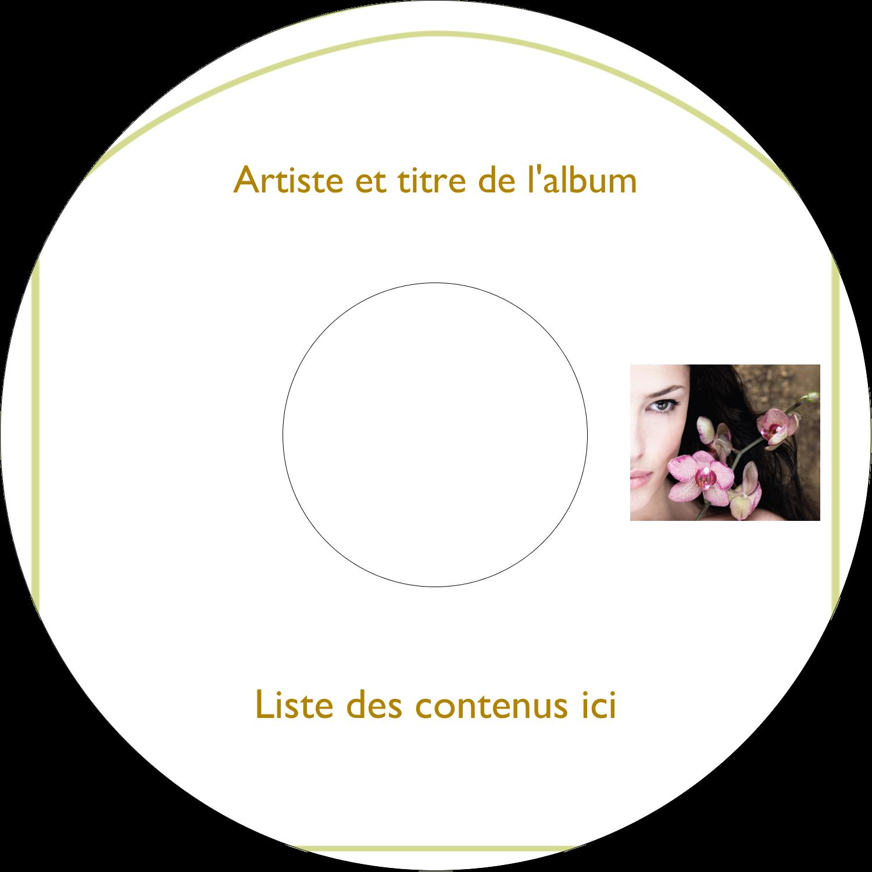 CD/DVD Étiquettes Pour Médias - Femme aux orchidées
