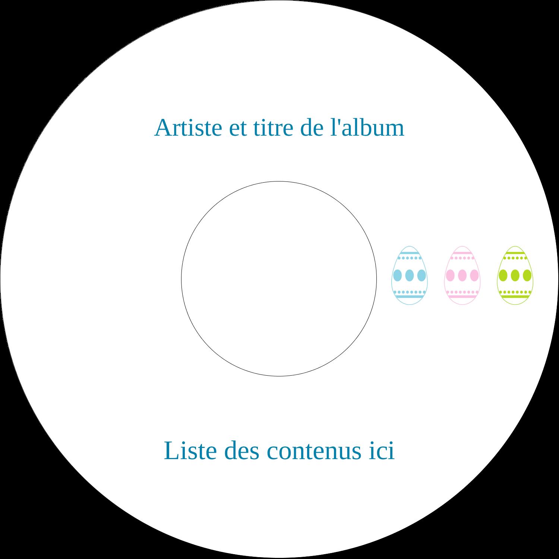 CD/DVD Étiquettes Pour Médias - Trio d'œufs de Pâques