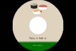 Sushis  Étiquettes de classement - gabarit prédéfini. <br/>Utilisez notre logiciel Avery Design & Print Online pour personnaliser facilement la conception.