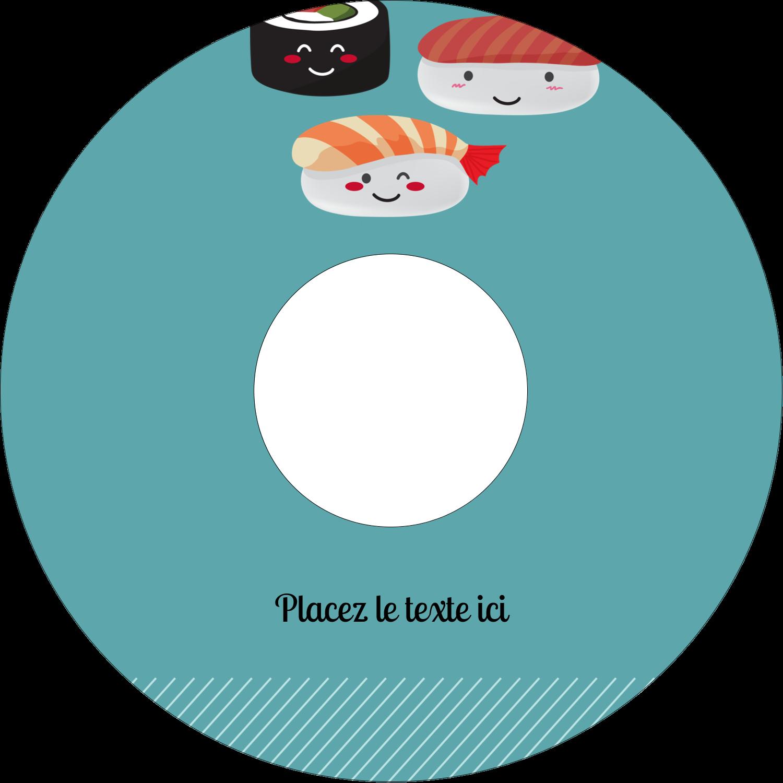 """⅔"""" x 3-7/16"""" Étiquettes de classement - Émoticônes de sushis"""
