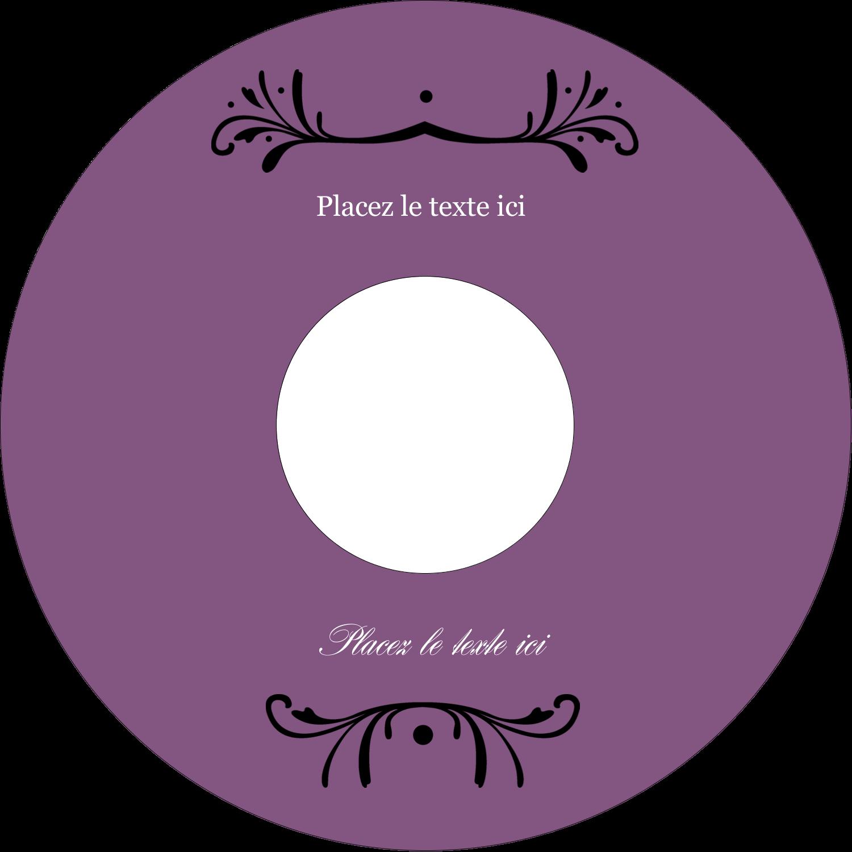 "⅔"" x 3-7/16"" Étiquettes de classement - Filigrane violet"