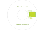 Carrés verts arrondis Étiquettes de classement - gabarit prédéfini. <br/>Utilisez notre logiciel Avery Design & Print Online pour personnaliser facilement la conception.