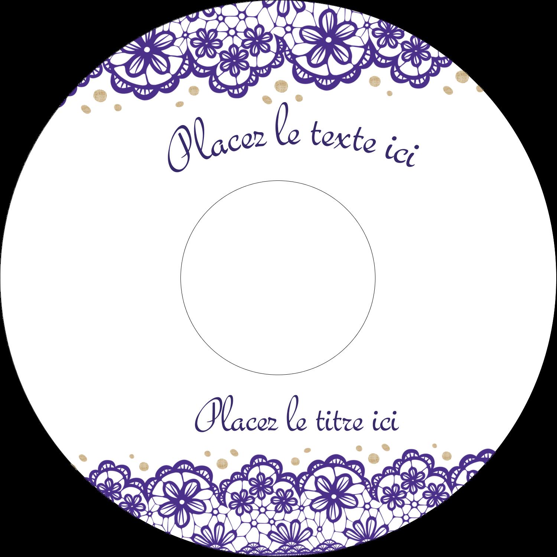 """⅔"""" x 3-7/16"""" Étiquettes de classement - Mariage en dentelle violette"""