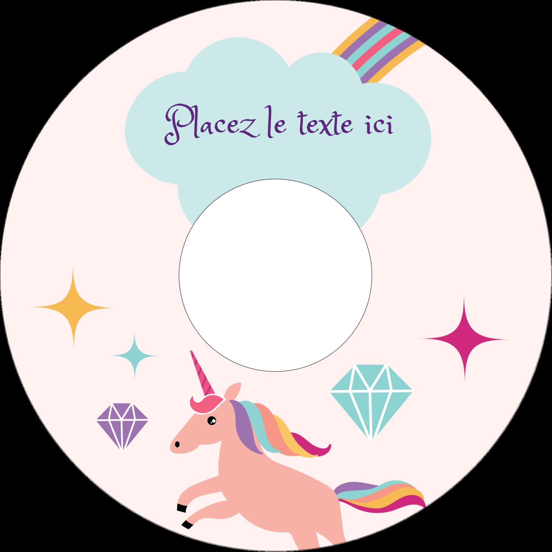 """⅔"""" x 3-7/16"""" Étiquettes de classement - Licorne en fête"""