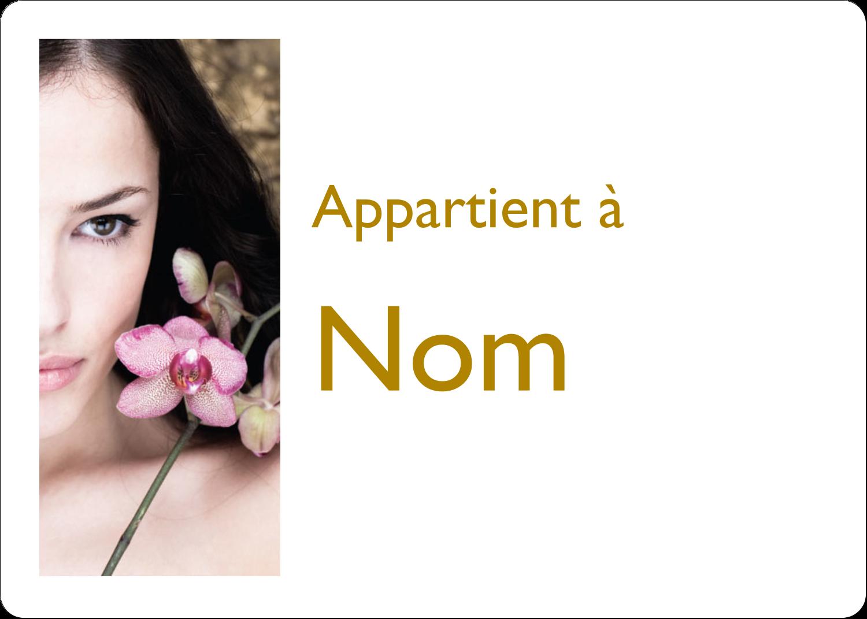 """1¾"""" x 1¼"""" Étiquettes D'Identification - Femme aux orchidées"""