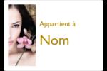 Femme aux orchidées Étiquettes D'Identification - gabarit prédéfini. <br/>Utilisez notre logiciel Avery Design & Print Online pour personnaliser facilement la conception.
