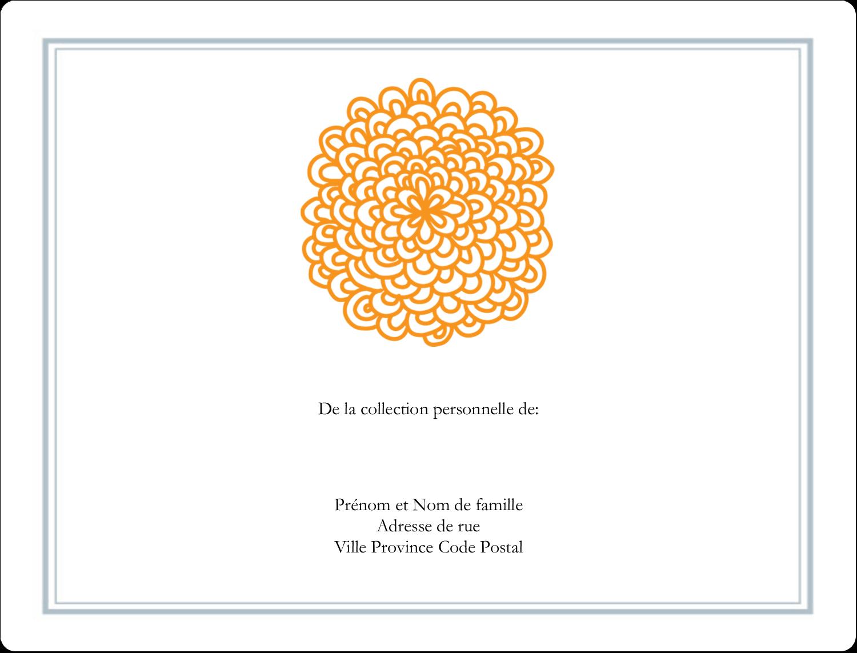 """8⅛"""" x 5"""" Étiquettes d'expéditions - Ex-libris générique"""