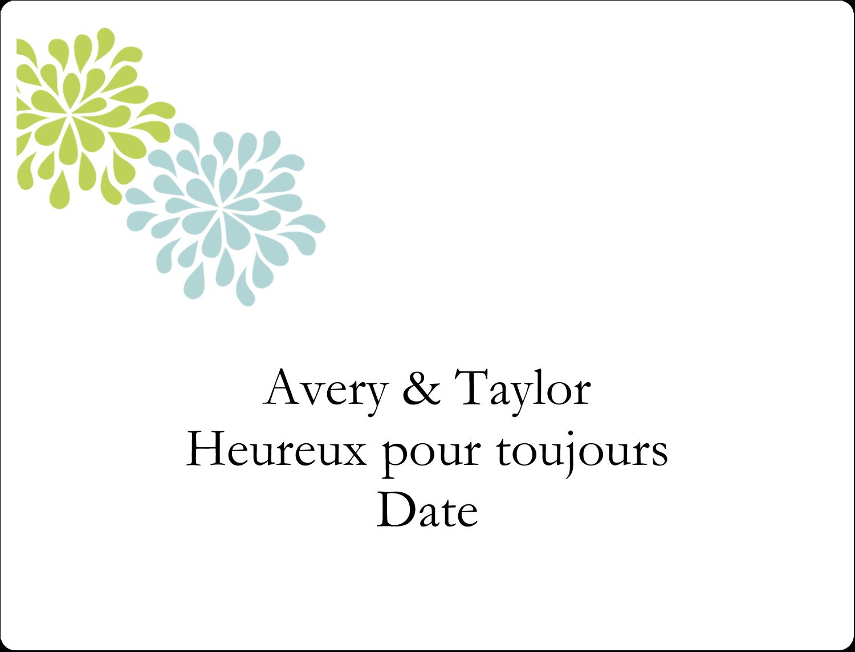 """8⅛"""" x 5"""" Étiquettes d'expéditions - Fleurs bleues et vertes"""