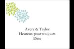 Fleurs bleues et vertes Étiquettes d'expéditions - gabarit prédéfini. <br/>Utilisez notre logiciel Avery Design & Print Online pour personnaliser facilement la conception.