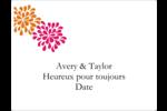 Fête prénuptiale en rose et orange Étiquettes d'expéditions - gabarit prédéfini. <br/>Utilisez notre logiciel Avery Design & Print Online pour personnaliser facilement la conception.