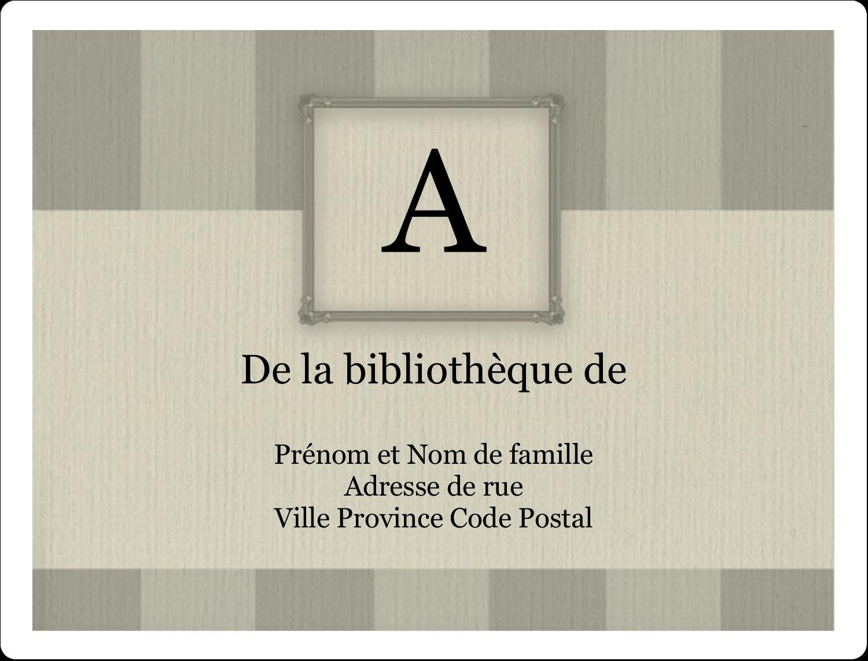 """2⅝"""" x 2"""" Étiquettes D'Identification - Initiale ex-libris"""