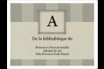 Initiale ex-libris Étiquettes D'Identification - gabarit prédéfini. <br/>Utilisez notre logiciel Avery Design & Print Online pour personnaliser facilement la conception.