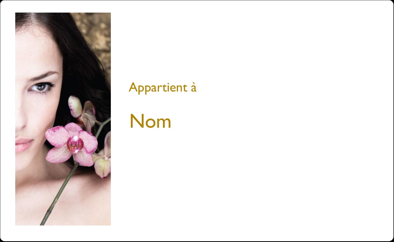 """8⅛"""" x 5"""" Étiquettes d'expéditions - Femme aux orchidées"""
