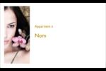 Femme aux orchidées Étiquettes d'expéditions - gabarit prédéfini. <br/>Utilisez notre logiciel Avery Design & Print Online pour personnaliser facilement la conception.