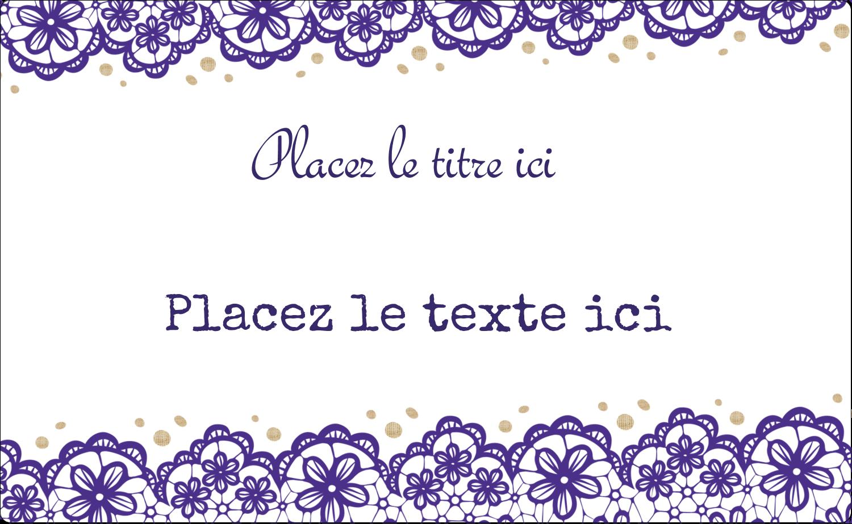 """8½"""" x 11"""" Étiquettes D'Identification - Mariage en dentelle violette"""