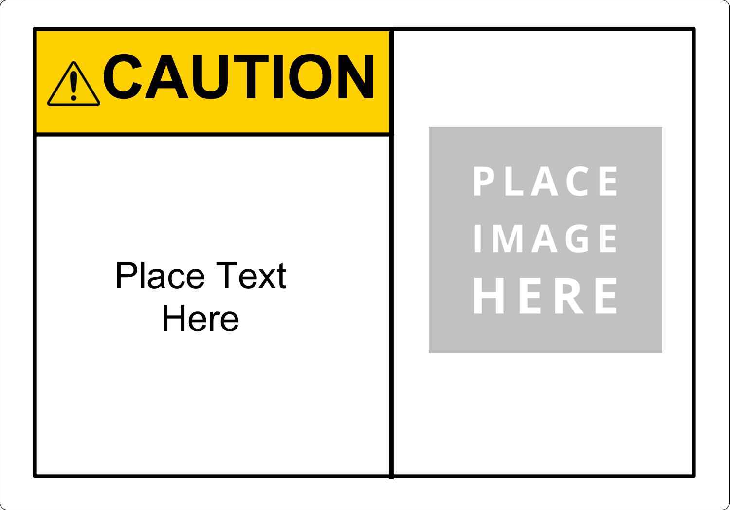 """5"""" x 3½"""" Industrial Label - GHS ANSI Caution"""