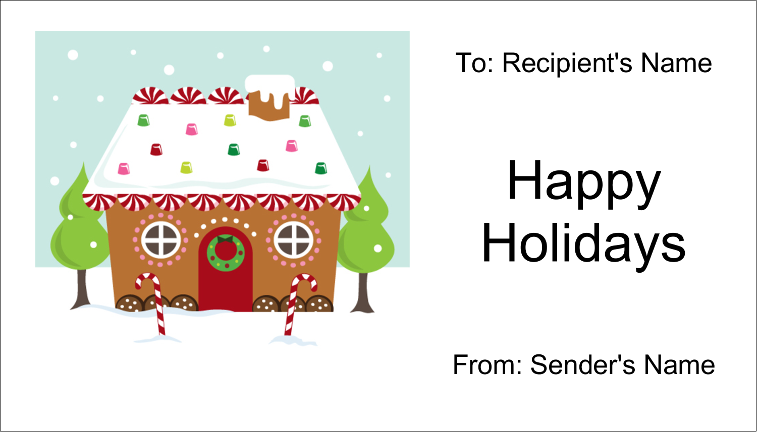 """2"""" x 3½"""" Business Card - Gingerbread House"""