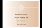 Diamant beige Badges - gabarit prédéfini. <br/>Utilisez notre logiciel Avery Design & Print Online pour personnaliser facilement la conception.