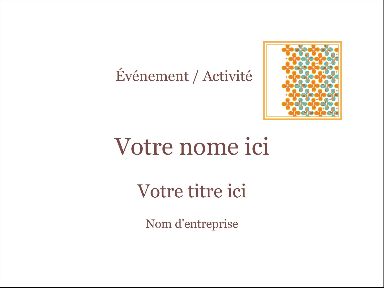 "2¼"" x 3½"" Badges - Motif fleuri"
