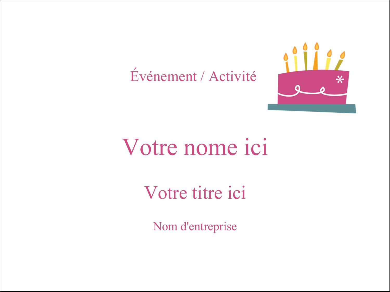 """2¼"""" x 3½"""" Badges - Fête d'anniversaire"""
