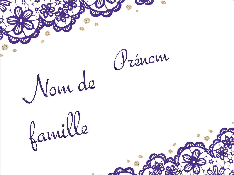 """2¼"""" x 3½"""" Badges - Mariage en dentelle violette"""