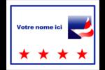 Étoile patriotique Badges - gabarit prédéfini. <br/>Utilisez notre logiciel Avery Design & Print Online pour personnaliser facilement la conception.