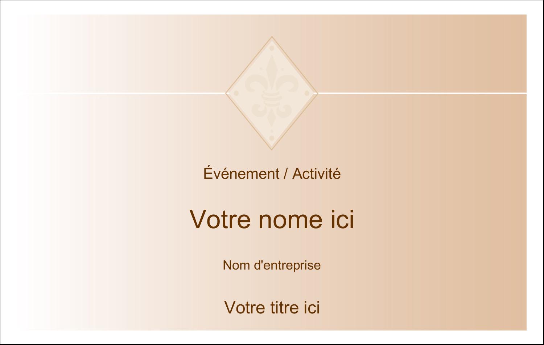 """2¼"""" x 3½"""" Badges - Diamant beige"""