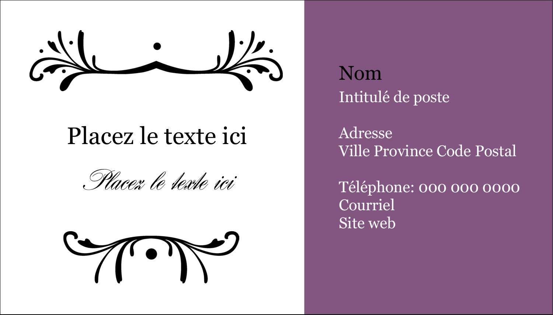 """2"""" x 3½"""" Carte d'affaire - Filigrane violet"""