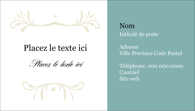 "2"" x 3½"" Carte d'affaire - Filigrane vert"
