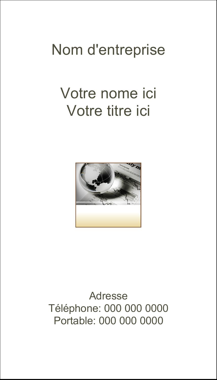 """2"""" x 3½"""" Carte d'affaire - Rapport financier"""